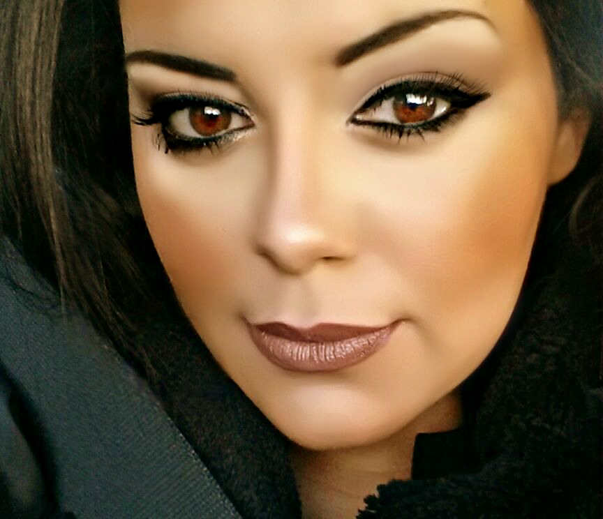 Makeup looks powdery